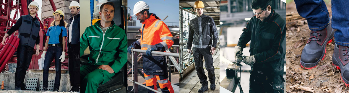vêtements de travail pour artisants, chantier, industrie, agriculture