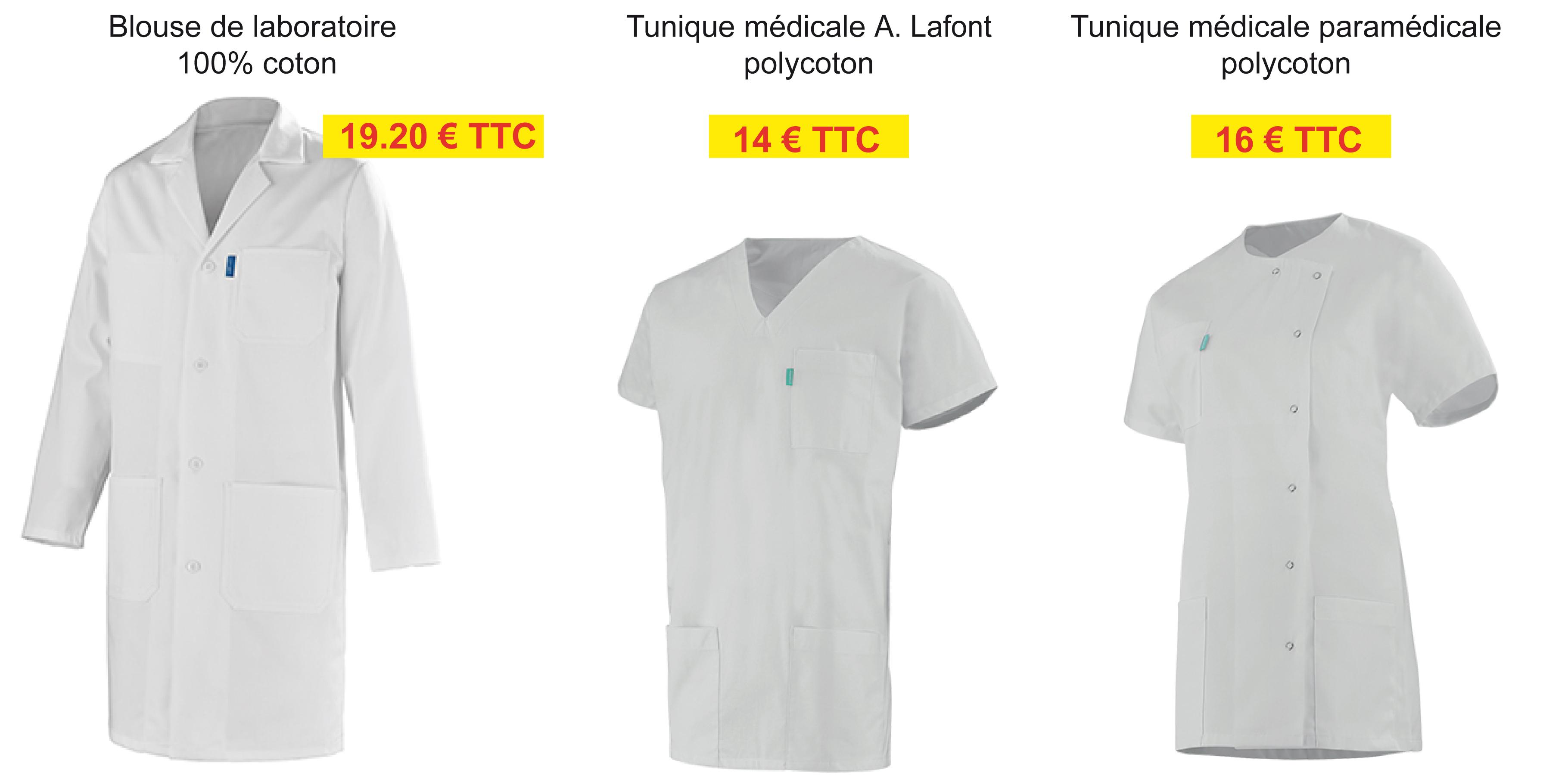 Blouses médicales et de laboratoire
