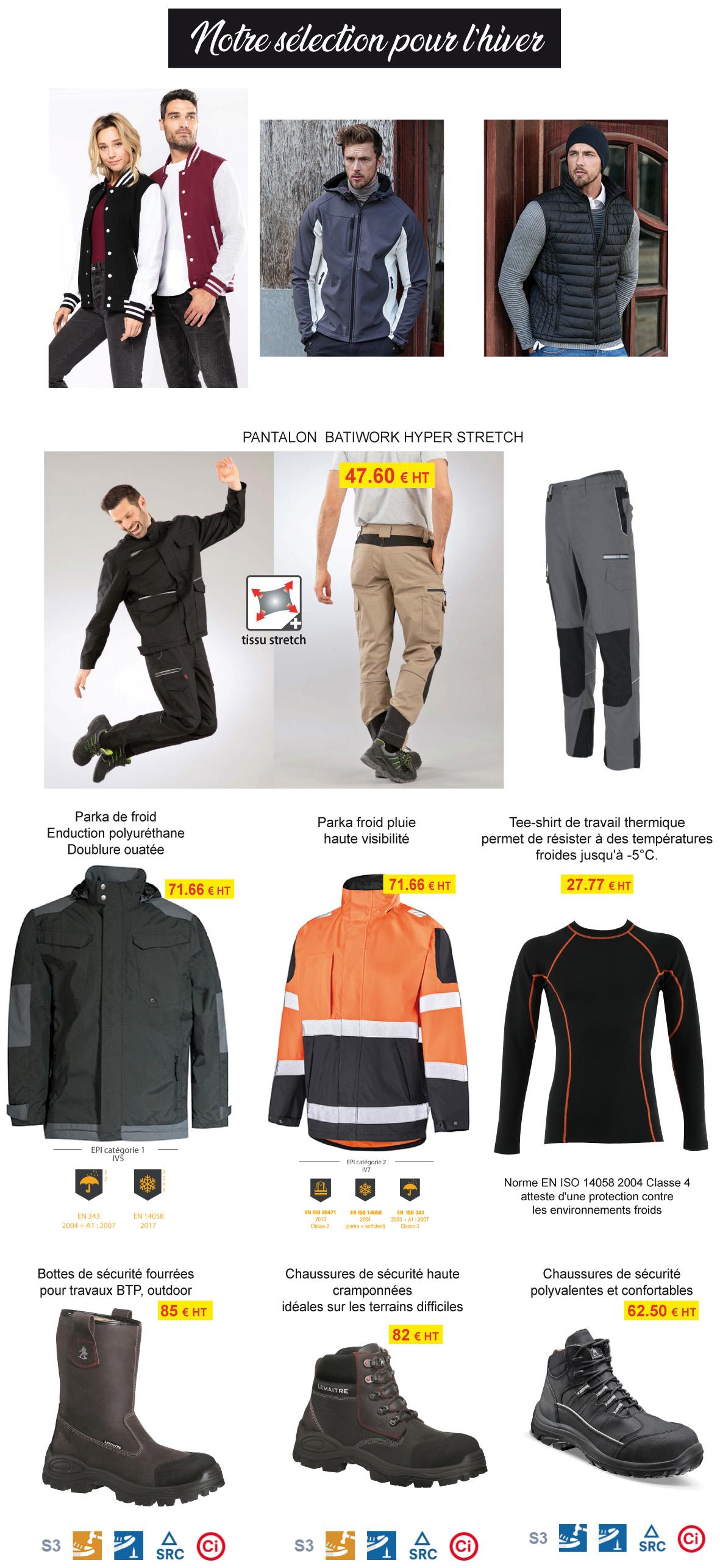 vestes pour l'hiver - pluie froid