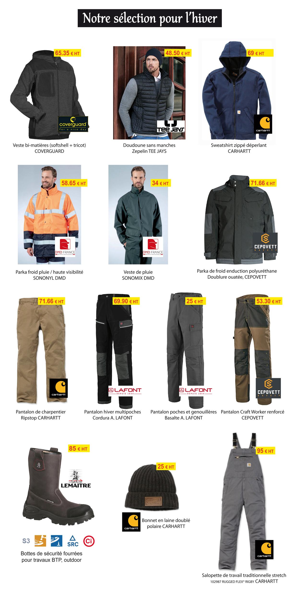 Vêtements de travail pour l'hiver